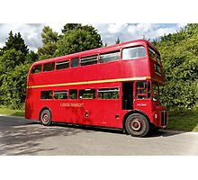 Former London Transport Routemaster Bus  Photographic Print