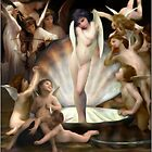 Bourguereau&#x27;s Angels Surround Cupid  by Gravityx9