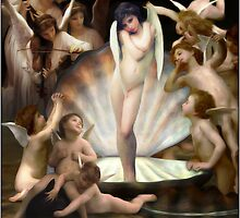 Bourguereau's Angels Surround Cupid  by Gravityx9