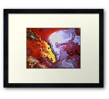 Alien Kiss (Moss Agate) Framed Print