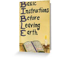 Meaning Of The Bible Greeting Card