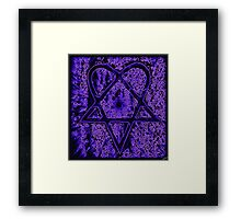Violet Thoughts Heartagram Framed Print