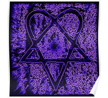 Violet Thoughts Heartagram Poster