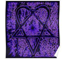 Violet Thoughts Heartagram Poster