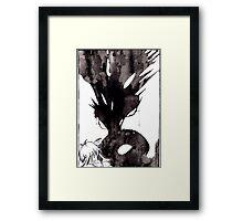 Black Blood Framed Print