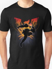 Super Smash Bros. Black Captain Falcon Silhouette Unisex T-Shirt