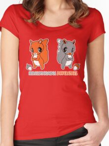 Irreconcilable Differences - Red vs Grey Squirrel Women's Fitted Scoop T-Shirt