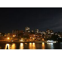 MILSONS POINT AT NIGHT Photographic Print