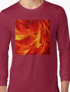 Firing Up Abstract  Long Sleeve T-Shirt