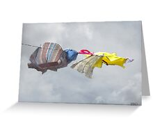 Variations in Pixels 42 - Blowin' in the Wind Greeting Card