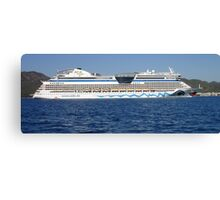 Aida Cruise Ship Entering Marmaris Bay Turkey Canvas Print