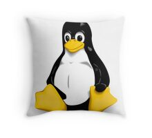 Linux Pinguin Throw Pillow