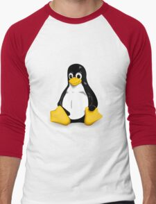 Linux Pinguin Men's Baseball ¾ T-Shirt