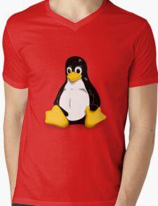 Linux Pinguin Mens V-Neck T-Shirt