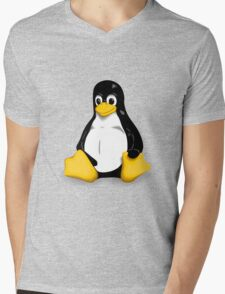Linux Pinguin Mens V-Neck T-Shirt