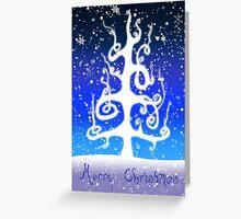 Eartheerian Christmas Tree ~ Blue Version ~ Christmas Card  Greeting Card