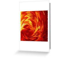 Dancing Flames Abstract  Greeting Card