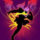 Super Smash Bros. Red Captain Falcon Sihouette by jewlecho