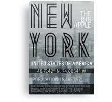 Metropolis New York Canvas Print