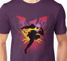 Super Smash Bros. Red Captain Falcon Sihouette Unisex T-Shirt