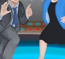 Disco Night with Bernie Sanders and Elizabeth Warren Color Version Sticker