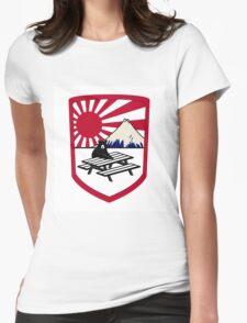 rising sun bear Womens Fitted T-Shirt