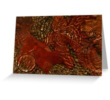 Maple Leaves In The Rain Greeting Card
