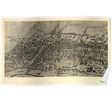 Panoramic Maps Arlington NJ Poster