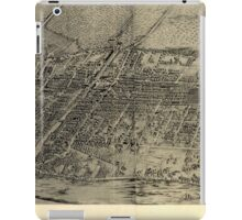 Panoramic Maps Arlington NJ iPad Case/Skin