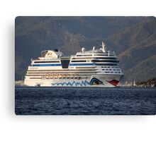 Aida Stella Cruise Ship Leaving Marmaris Canvas Print