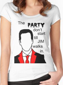 Jim's Party Women's Fitted Scoop T-Shirt