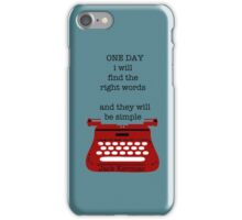 One day iPhone Case/Skin
