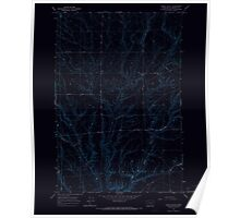 USGS Topo Map Washington State WA Lenzie Ranch 241978 1965 24000 Inverted Poster