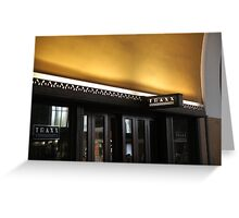 Traxx Sign, Union Station Greeting Card