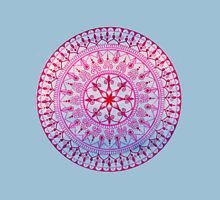 Hand Drawn Pretty Pink and Blue Mandala  Womens Fitted T-Shirt