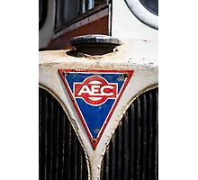 AEC Old bus. Photographic Print