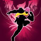 Super Smash Bros. Pink Captain Falcon Silhouette by jewlecho
