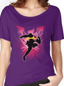 Super Smash Bros. Pink Captain Falcon Silhouette Women's Relaxed Fit T-Shirt