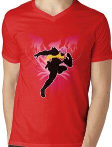 Super Smash Bros. Pink Captain Falcon Silhouette Mens V-Neck T-Shirt