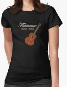 Flamenco Spanish Folklore Womens Fitted T-Shirt