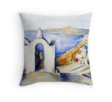 Memories of Santorini #2 Throw Pillow