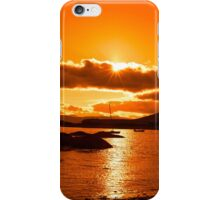 wild atlantic way ireland with an orange sunset iPhone Case/Skin