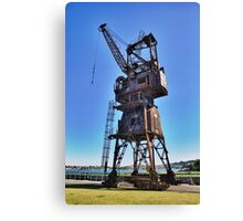 Slipway Crane Canvas Print