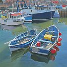 Side by side in Whitby Harbour by Graham Clark