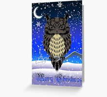 Eartheerian Baroque Brown Owl ~ Christmas Card Greeting Card