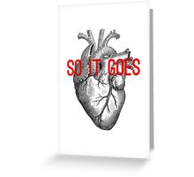 So it goes Greeting Card