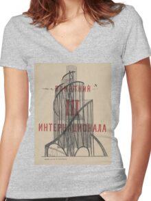 Tatlin Tower Women's Fitted V-Neck T-Shirt