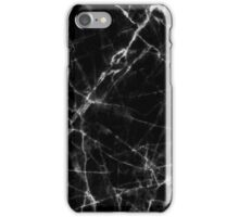 Black Marble Stone pattern iPhone Case/Skin