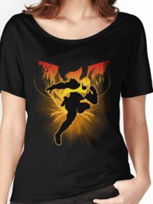 Super Smash Bros. Gold/Yellow Captain Falcon Silhouette Women's Relaxed Fit T-Shirt