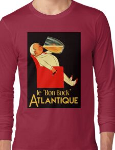 Retro French beer ad Le Bon Bock Long Sleeve T-Shirt